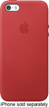 Apple® - Leather Case for Apple® iPhone® 5 and 5s - Red