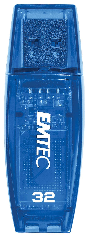 Emtec - Color Mix 32GB USB 2.0 Flash Drive - Blue