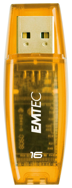 Emtec - Color Mix 16GB USB 2.0 Flash Drive - Yellow