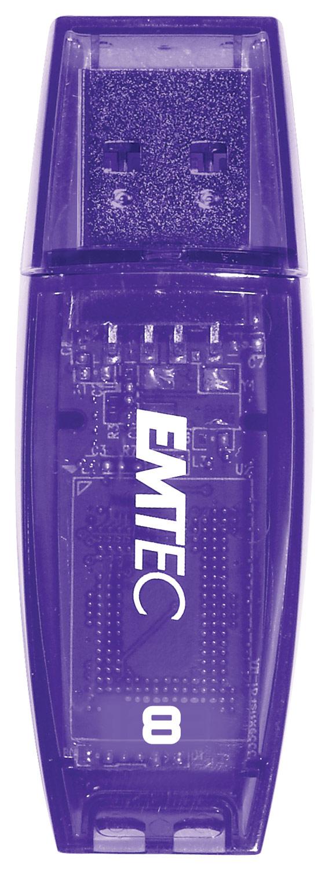EMTEC - Color Mix 8GB USB 2.0 Flash Drive - Black