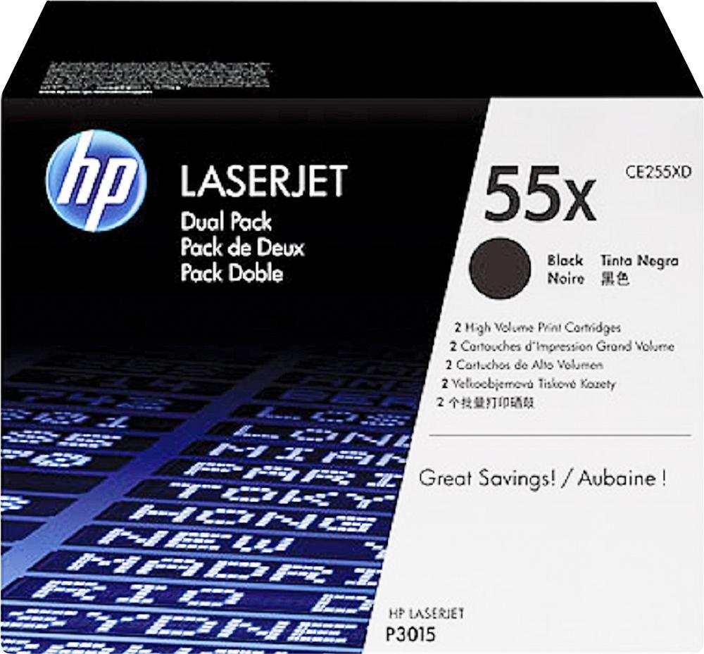 HP - 55X 2-Pack High-Yield Ink Cartridges - Black