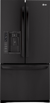 LG - 24.9 Cu. Ft. French Door Refrigerator with Thru-the-Door Ice and Water - Black