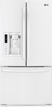 LG - 24.9 Cu. Ft. French Door Refrigerator with Thru-the-Door Ice and Water - White