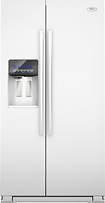 Whirlpool - 26.3 Cu. Ft. Side-by-side Refrigerator With Thru-the-door Ice And Water - White