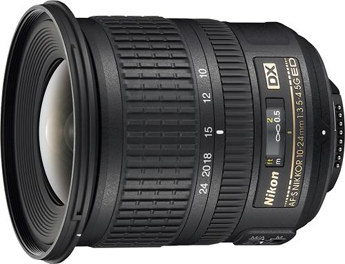 Nikon - AF-S DX NIKKOR 10-24mm f/3.5-4.5G ED Ultra-Wide Zoom Lens - Black