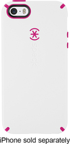 Speck - CandyShell + Faceplate Case for Apple® iPhone® 5 and 5s - White/Pink