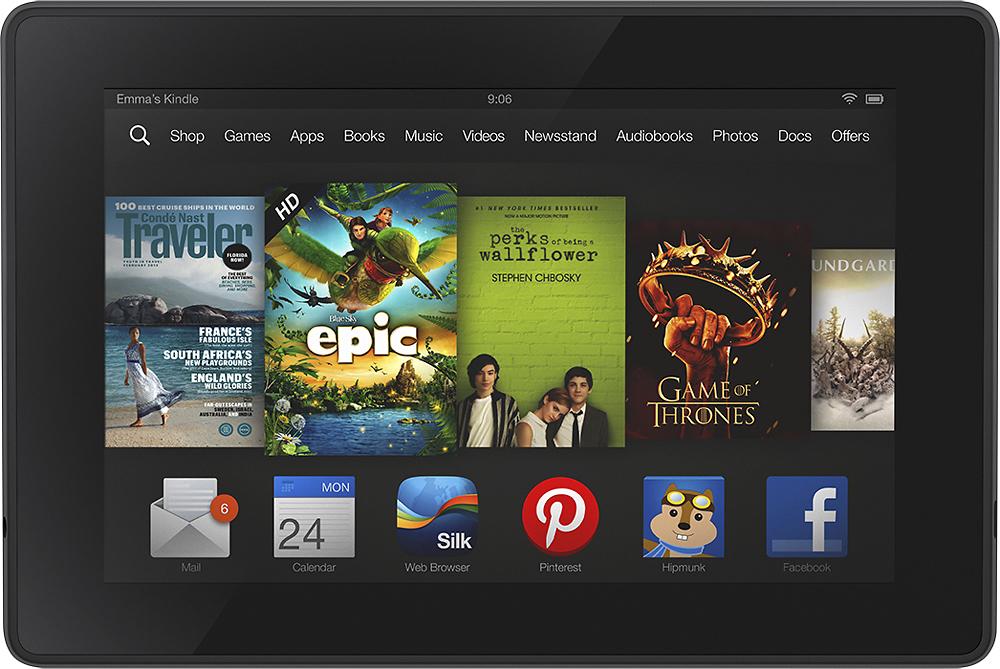 Amazon - Kindle Fire Hd - 8gb - Black