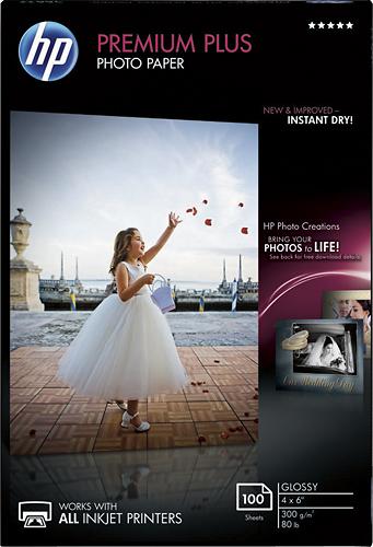 HP - Premium Plus Glossy Photo Paper - White