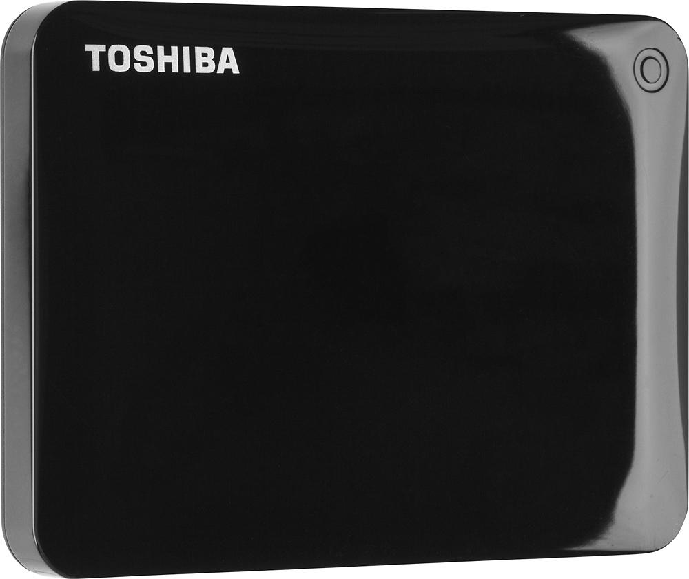 Toshiba - Canvio Connect II 1TB USB 3.0 Portable Hard Drive - Black