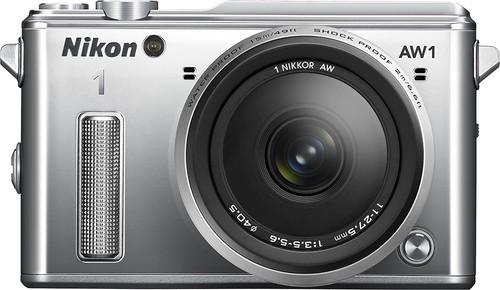 Nikon - 1 AW1 Waterproof Mirrorless Camera with 11-27.5mm Lens - Silver