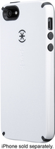 Speck - CandyShell + Faceplate Case for Apple® iPhone® 5 and 5s - White/Gray
