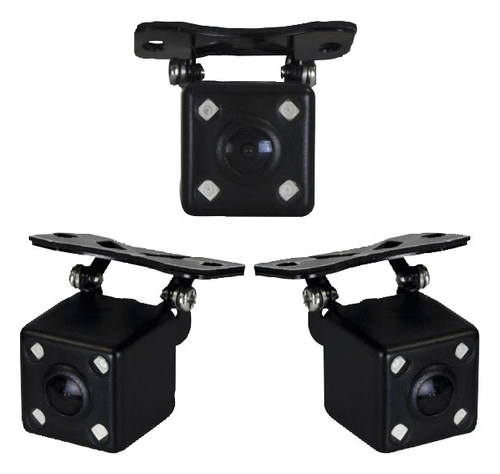Metra - Install Bay Square Back-Up Camera for Most Vehicles - Black