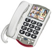 Clarity - 76593 P300 Amplified Corded Photo Phone - White