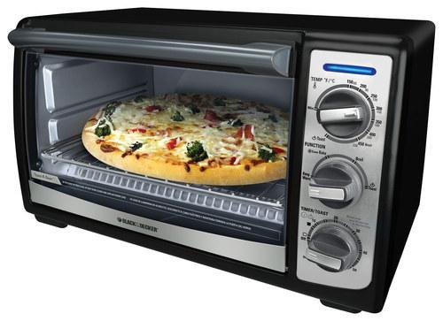 Black & Decker - Toast-R-Oven 4-Slice Toaster Oven - Black