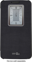 LG - QuickWindow Folio Case for LG G2 Cell Phones (AT&T, Sprint, TMUS) - Black