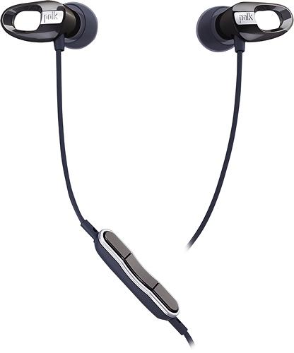 Polk - Nue Voe Earbud Headphones - Black