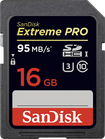 SanDisk - Extreme Pro 16GB SDHC Memory Card - Black/Red