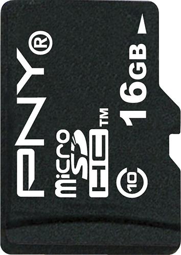 PNY - 16GB microSDHC Class 10 Memory Card - Black