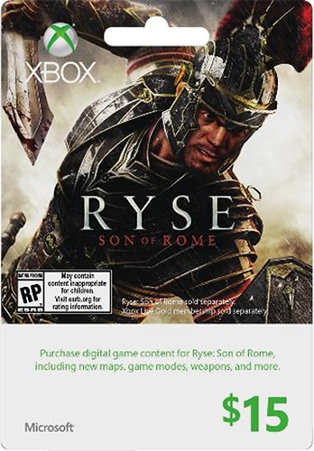 Microsoft - $15 Xbox Gift Card - Ryse - Multicolor