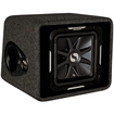 "Kicker - Solo-Baric L7 12"" Single Dual-Voice-Coil 2-Ohm Subwoofer with Enclosure - Black"