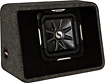 "Kicker - Solo-Baric L7 10"" Single Dual-Voice-Coil 2-Ohm Subwoofer with Enclosure"