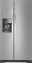Whirlpool - 21.4 Cu. Ft. Counter-depth Side-by-side Refrigerator With Thru-the-door Ice And Water - Monochromatic Stainless-steel