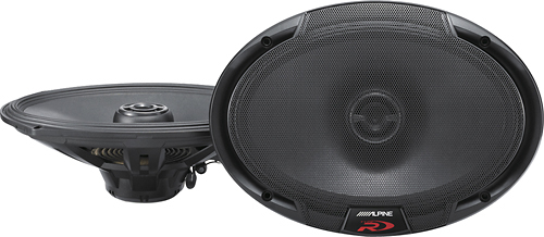 Alpine - Type R 6 x 9 2-Way Coaxial Car Speakers with Hybrid Fiber Cones (Pair) - Black
