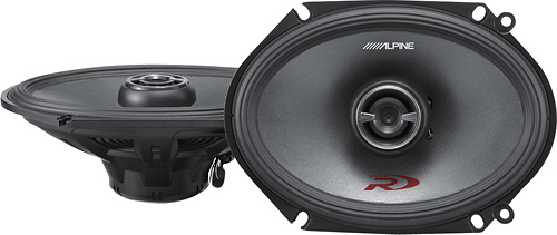 Alpine - Type R 6 x 8 2-Way Coaxial Car Speakers with Hybrid Fiber Cones (Pair) - Black