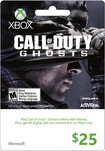Microsoft - $25 Xbox Gift Card - Call of Duty: Ghosts - Multicolor