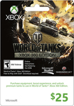 Microsoft - $25 Xbox Gift Card - World of Tanks - Multicolor