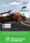 Microsoft - Xbox Live 12 Month Gold Membership - Forza 5