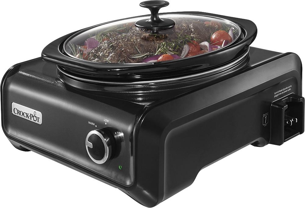 Crock Pot - 3-Quart Double Slow Cooker - Charcoal