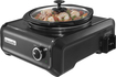 Crock Pot - 2-Quart Double Slow Cooker - Charcoal