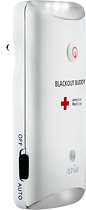 Eton - American Red Cross Blackout Buddy Rechargeable Emergency Flashlight - White