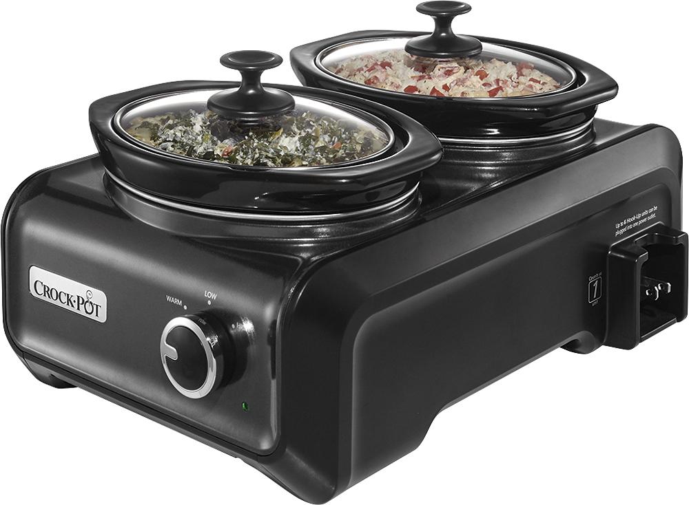 Crock Pot - 2-Quart Double-Crock Slow Cooker - Charcoal