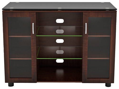 Z-Line Designs - Merako Highboy TV Console for Most Flat-Panel TVs Up to 60 - Espresso (Brown)