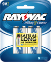 Rayovac - 9V Batteries (2-Pack) - Silver/Blue