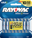 Rayovac - AAA Batteries (8-Pack) - Silver/Blue