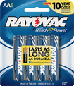 Rayovac - AA Batteries (8-Pack) - Silver/Blue