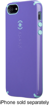 Speck - CandyShell Case for Apple® iPhone® 5 and 5s - Purple/Pool Blue