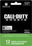 Microsoft - Xbox Live 12 Month Gold Membership - Call of Duty: Ghosts