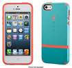 Speck - CandyShell Flip Case for Apple® iPhone® 5 and 5s - Pool Blue/Dark Blue/Wild Salmon Pink