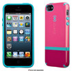 Speck - CandyShell Flip Case for Apple® iPhone® 5 and 5s - Raspberry Pink/Port Red/Peacock Blue