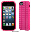 Speck - PixelSkin Case for Apple® iPhone® 5 and 5s - Raspberry Pink