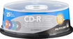 Dynex - 25-Pack 52x CD-R Disc Spindle - Multicolor