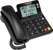 AT&T - Corded Speakerphone with Caller ID/Call Waiting - Black