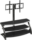 "Whalen Furniture - 3-in-1 TV Stand for Flat-Panel TVs Up to 56"" - Black"