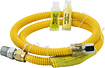 Smart Choice - Safety+ 3/4mip X 1/2mi Connector For Most Gas Ranges - Yellow 2407173