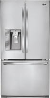 LG - 30.7 Cu. Ft. French Door Refrigerator with Thru-the-Door Ice and Water - Stainless-Steel