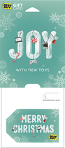 Best Buy GC - $100 Joy with New Toys - Merry Christmas Gift Card